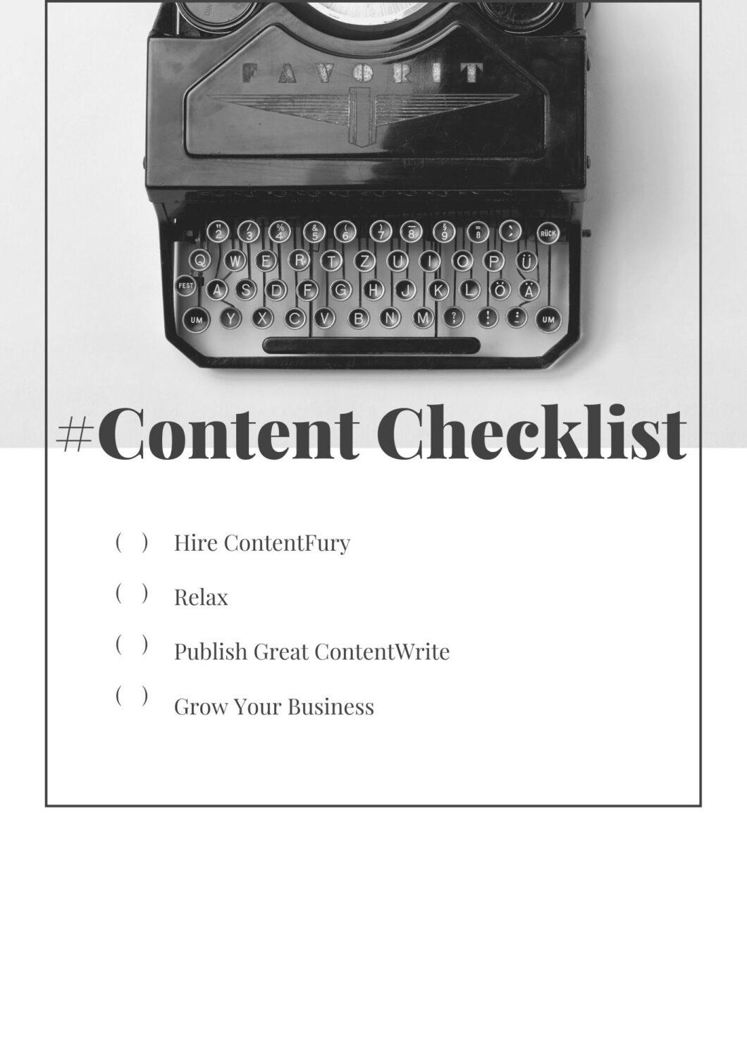 SEO Optimized Content Checklist